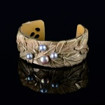 Autumn Leaves Bronze Cuff by Jonna Faulkner