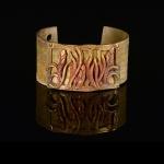Love Letter Bronze Cuff by Jonna Faulkner