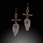 Mint leaf earrings 08