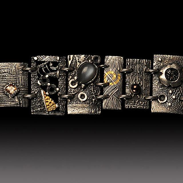New Panel Bracelet Detail by Jonna Faulkner. Jewelry Photography by Steve Rossman.