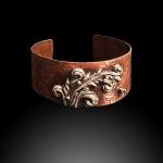 Scroll Cuff - Copper & silver-72