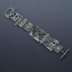 Textured Panel Steppingstone Bracelet by Jonna Faulkner. Jewelry Photography by Steve Rossman.