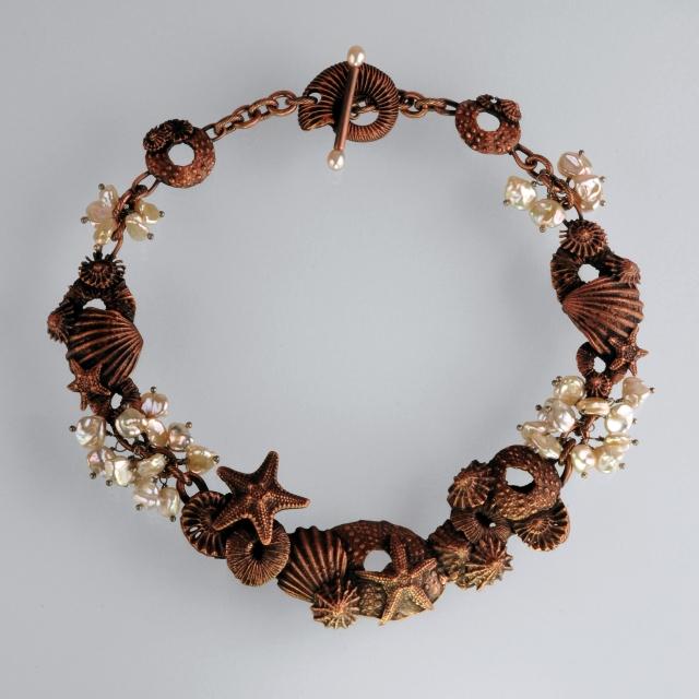 Copper Tidepool Necklace by Jonna Faulkner 2012.  Jewelry Photography by Steve Rossman.
